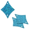 Sequins Hologram 29x36mm With Hole Diamond Aqua